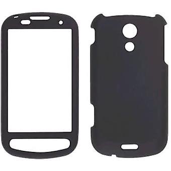 Pedaço de Sprint dois toque macio Snap-On caso para Samsung Epic 4G SPH-D700 - preto