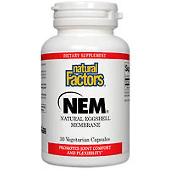 Luonnolliset tekijät NEM - Luonnollinen munankuorikalvo, 500 mg, 60 veg caps
