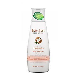 Live Clean Coconut Milk Moisturizing Conditioner, 12 Oz