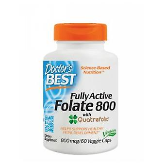 Doctors Best Fully Active Folate, 800 mcg, 60 Veg Caps