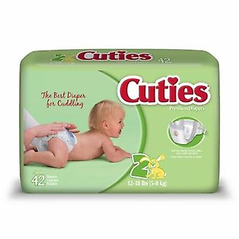 First Quality Unisex Baby Diaper, Size 2, 42 Count