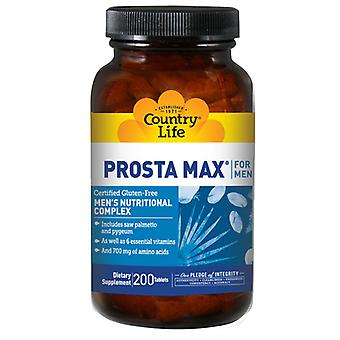 Country Life Prosta-Max For Men NF, 200 Tabs