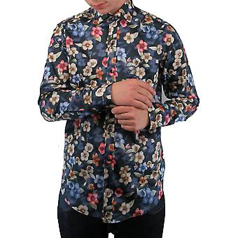Multicolour Abstract Floral Print Shirt