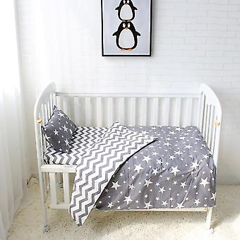 Baby Bedding Cotton Crib Sets Including Duvet Cover Pillowcase, Flat Sheet