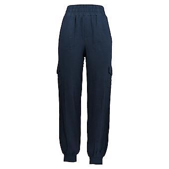 Anybody Women's Pantalones Cargo Jogger W/ Bolsillos Azul A310169