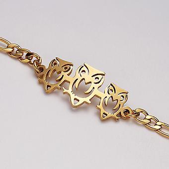 Pulsera chapada en oro con búhos perfecto regalo niños mujeres hombres
