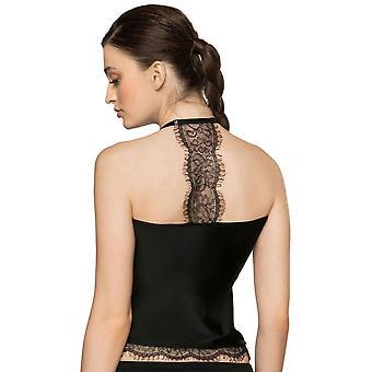 Roza ženy ' s Sija Čierna čipka Nočná košeľa
