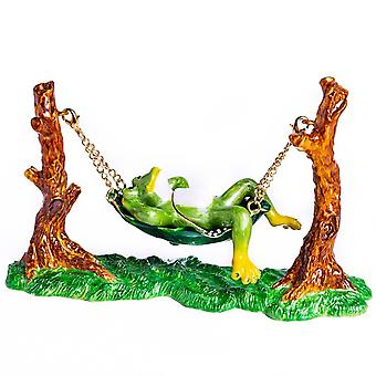 Frog Relaxing On Hammock - Trinket Box
