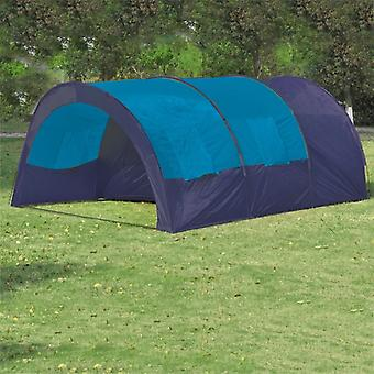 vidaXL Camping tent 6 people fabric blue/dark blue