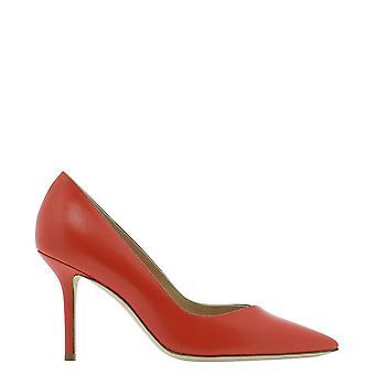 Guglielmo Rotta 4029vvitellocorallo Women's Red Leather Pumps