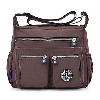 Shoulder Bags Designer Waterproof Nylon Handbag Zipper Purses