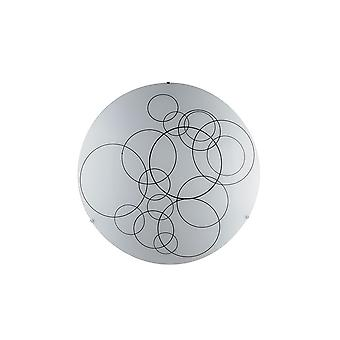 Fan Europe Karma - Decorative Flush Ceiling Light, White Glass, E27