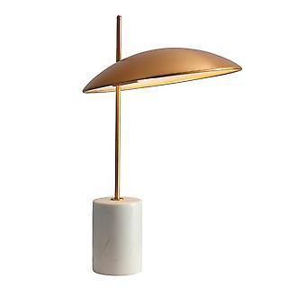 Italux Vilai - Moderne LED Tafellamp Goud, Marmer, Warm Wit 3000K 400lm