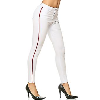 Womens Pants Trousers Treggings Stripes Skinny Jeggings Trackpants Stretch Tube