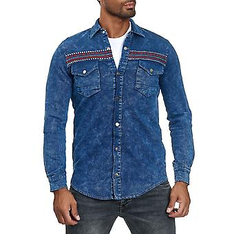 Les Jeans chemise men-apos;look Longsleeve Mottled Embroidered Transition Jacket Pattern