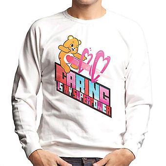 Pflege Bären Entsperren die Magie Pflege ist meine Supermacht Männer's Sweatshirt