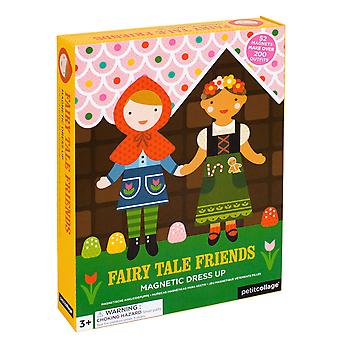 Petit collage | magnetic game | dressing up fairy tale friends