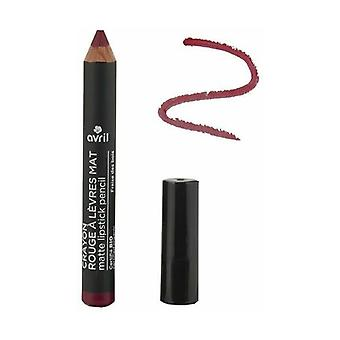 Matte lipstick pencil Wild strawberry Certified organic 1 unit (Red)