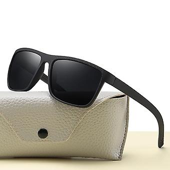 Vintage Sports Style Polarized Sunglasses Men Driving Square Shades Luxury
