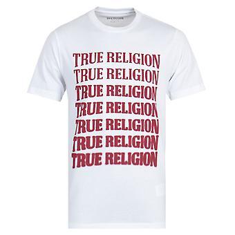 True Religion Descending Arch White T-Shirt