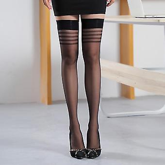 Femmes Bas purs sur le genou longues chaussettes