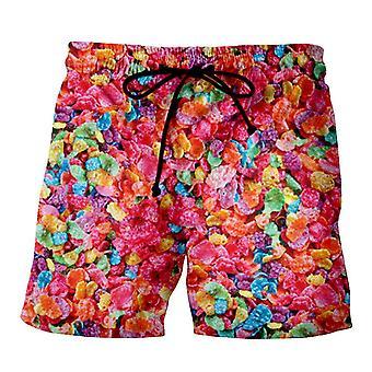 3d trykt steinete toons 90s tegneserie collage shorts for mann / kvinne