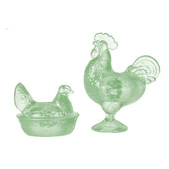 Puppen Haus grün Hahn & Nesting Henne Chrysnbon Ornamente