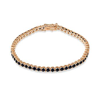 Królowa bransoletki tenisowej na czarnych diamentach i 18K gold