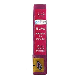 1 Magenta Tintenpatrone ersetzt Epson T2703 (27 Serie) Kompatibel/Nicht-OEM von Go Tinten