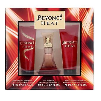 Giftset Beyonce Heat Edp 50ml + Exfoliating Shower Gel + Sparkling Body Lotion