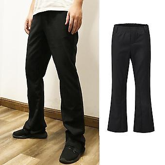 Flare Παντελόνια, Joggers Mens Hip Hop Casual Streetwear, Hipster παντελόνι, ευρύ πόδι