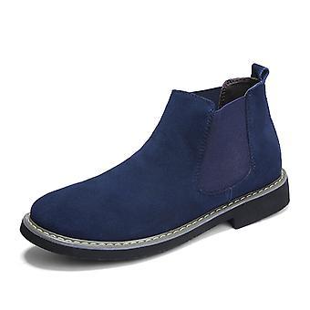 Botas de cuero Chelsea para hombre azul