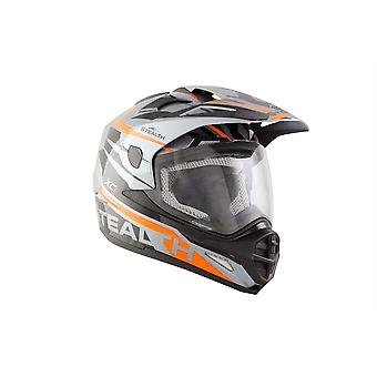 Stealth HD009 XC1 Adult Dual Sport Helmet - Grey