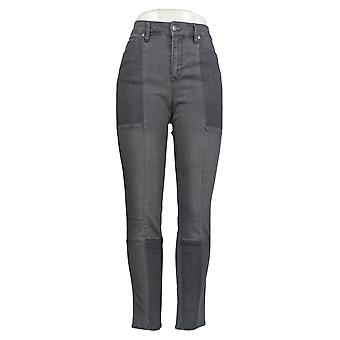 Martha Stewart Mujeres's Jeans Seamed Panel 5 Pocketed Ankle Gray A351150
