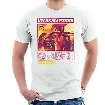 Jurassic Park Velociraptor Napauta Danger Men's T-paita