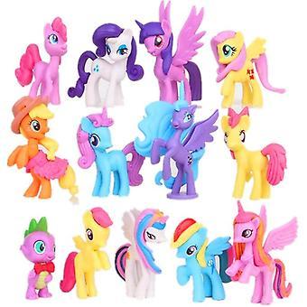 Duhový kůň jednorožec malé figurky panenky k narozeninám