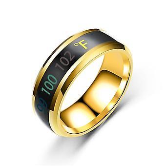Temperature Ring, Titanium Steel, Sensitive Rings, Men, Waterproof Jewelry