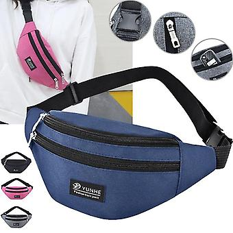 Waist Bag With Three Zipper Pocket, Chest Handbag, Belly Bags Purse