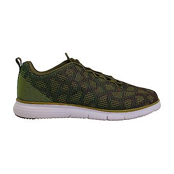 Propet Women's TravelFit Sneaker, Green, 6.5 2E US
