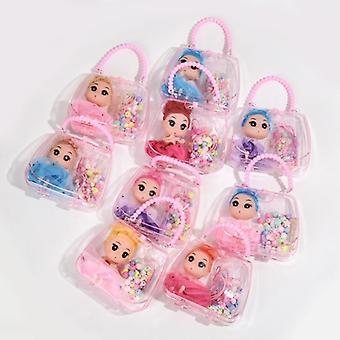 Tyttöjen kukkaro ja käsilaukku hehkuva kolikko lompakko laukku vaaleanpunainen prinsessa pitsi