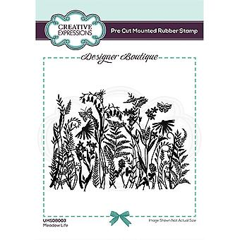 Creative Expressions Designer Boutique Collection Meadow Life Pre Cut Rubber Stamp