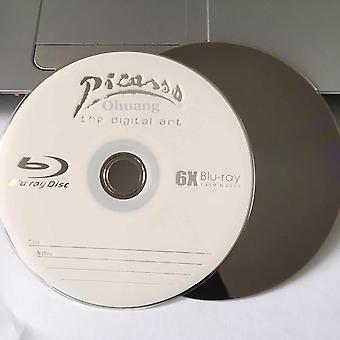 6x 25gb blanco gedrukte Blu Ray Bd-r schijven