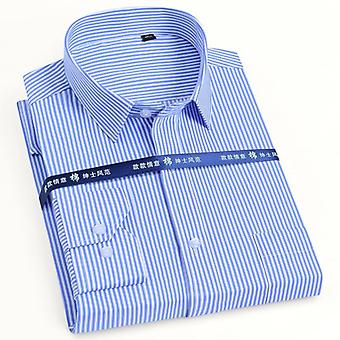 Mannen >> Classic Long Sleeve Solid/striped Basic Dress Shirts
