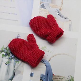 Hilo de lana de punto, mini guantes, juguete de suministros de artesanía diy, muñecas decorativas