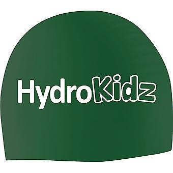 HydroKidz Children's Silicone Swim Caps -Green