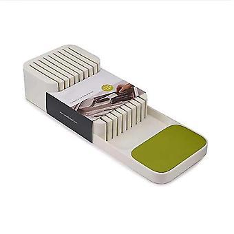 Kompakt bestick knivar förvaringslåda, kökskniv hållare och knivar separation arrangör