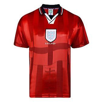 Score Draw England 1998 Vm-finaler borte Retro Fotball skjorte