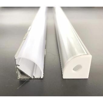 2-30pcs/lot 45-degree Angle Aluminum Profile For Led Strips Cover