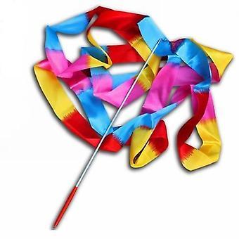 Colorful Dance Ribbon- Rhythmic Art Gymnastic, Streamer Twirling, Rod Stick