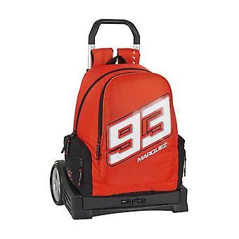 School Rucksack with Wheels Evolution Marc Marquez Black Red